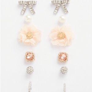 NWT Torrid silver pave flower earring set 5